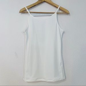 Nike white tank perforated front XS A125